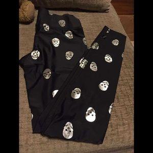 Pants - Skull running tights